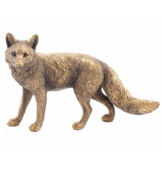 A fine quality bronze fox ornament with a textured finish. From the popular Bronzed Reflections range.