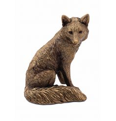 This stunning, fine quality sitting bronzed fox will be sure to add a vintage charm to any space he's put in