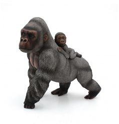 Part of the African Range from the Leonardo Collection is this beautiful Gorilla and her baby