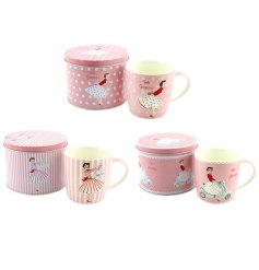 This pretty vintage mug with matching tin makes a great gift item for the vintage lover. Perfect for re-using as storage