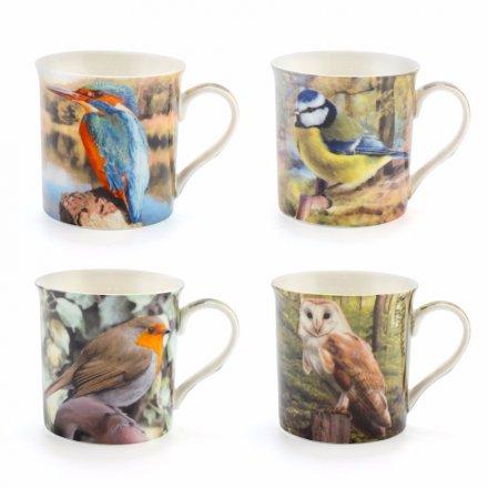 Bird Mug 4 Asst