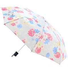 A colourfully floral designed umbrella  With its easy opening, this practical umbrella will be perfect for anybody