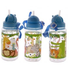 Complete with fun colours and a neck string and straw, perfect for juice on the go!