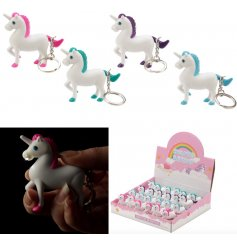 A stylish unicorn shaped key ring