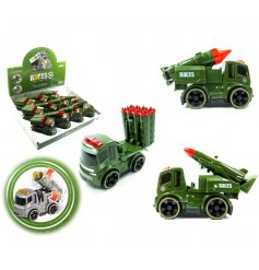 A fun little Army inspired range of push along tanks, complete with movable missiles