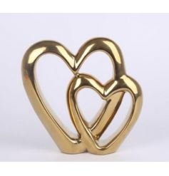 A beautifully simple double heart ceramic ornament, perfect for tying in any home decor