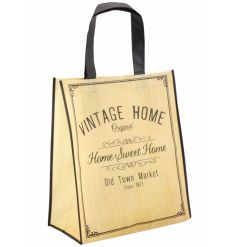 This quirky fully recycled plastic shopping bag is the perfect way to carry your bought goods