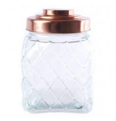 This cut glass storage jar with a copper list is a classic twist on a vintage favourite.