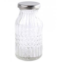 A glass bottle with vintage feel
