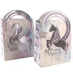 Add a magical touch to your gift giving with these super cool unicorn themed gift bags,
