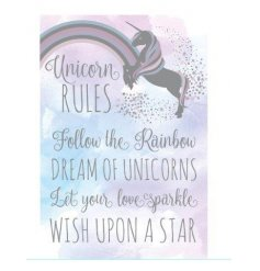 Unicorn Plaque  A mystical and magical unicorn themed hanging wall plaque