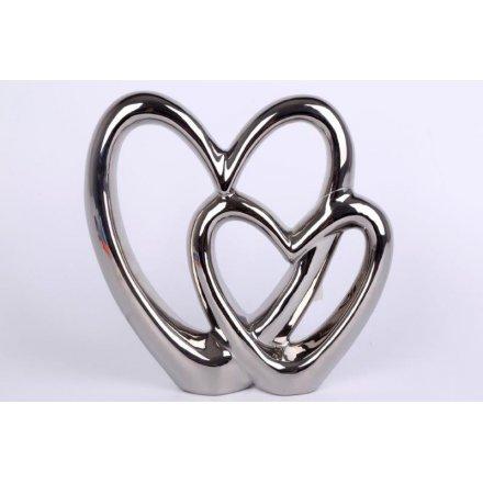 Double Heart Ornament, 21cm