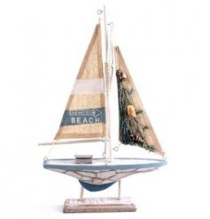 A medium sized sailing boat decoration