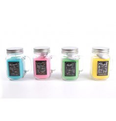 Sweetly scented assortments of cocktail themed candles in mason jars