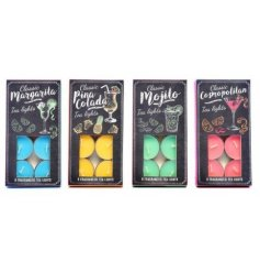 4 sweet smelling assortments of cocktail themed tlight.