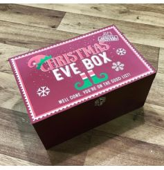 Get ready for Christmas with this large Christmas Eve box with a child friendly elf design