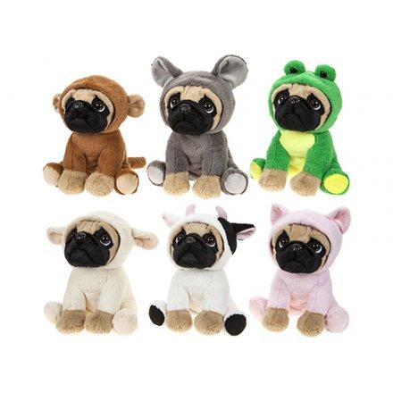 441525 Fancy Dress Pugs Soft Toy 20cm 35260 Children Baby