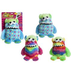 A colourful plush worry monster in an assortment of colours and designs.
