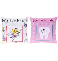 An assortment of 2 tooth fairy cushions with pocket