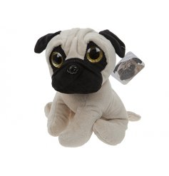 An adorable soft toy pug for little ones to enjoy.