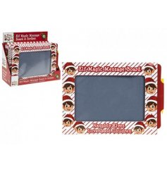 Leave fun and festive messages from your Christmas Elf with this magic message board with pen.