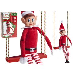 A fabulous Elf swing ready for naughty elf adventures! A great accessory for your home this season.