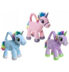 A mix of 3 super soft unicorn handbags