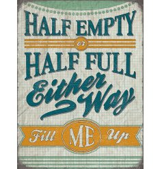 This stylish retro themed metal sign will hang perfectly above any bar or drinking space