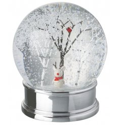 A charming Christmas Snow Globe with a snowy woodland scene and adorable mouse.