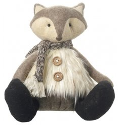 this adorable sitting beige toned fox will be a perfect addition to any home decor