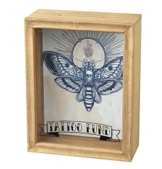 Save up for that special tattoo with this attractive tattoo fund money box with a butterfly design. A great gift item!