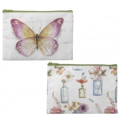 A mix of 2 pretty watercolour design bags in floral and butterfly designs.