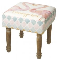 A beautifully stylish watercolour flamingo themed foot stall