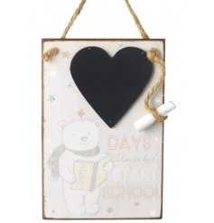 Let your little ones build up the excitement of starting school with this sweet count down chalkboard