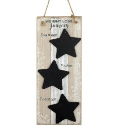 Keep track of your Weight Loss Journey with this charming wooden plaque