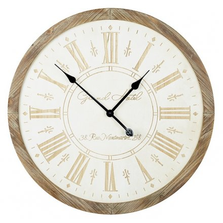 White Wooden Wall Clock