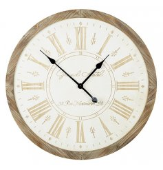This beautiful large wooden wall clock is the perfect way to add a chic modern twist to your home