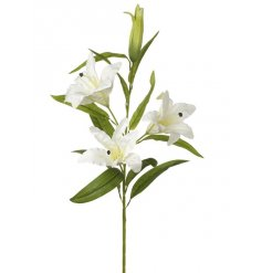 A 3 stem artificial lily flower. A timeless floral feature for the home.