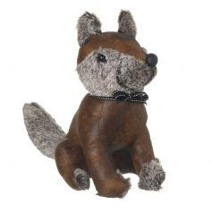 A sweet sitting fox door stop, perfect for any vintage living space