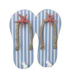 Hang up your towels and grab a cocktail! This funky Flipflop shaped peg is perfect for a coastal vibe