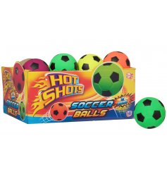 This mix of colourful bouncy soccer balls by Hot Shots are a perfect pocket money priced item.