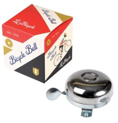 A classic silver bicycle bell from the popular Le Bicycle range. A great gift item with stylish packaging!