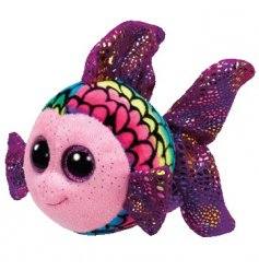 Add a touch of magical charm to your little ones plush toys with this quirky multi toned Beanie fishy