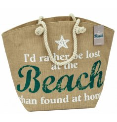 Pack up all your summer essentials in this stylish Jute beach bag.
