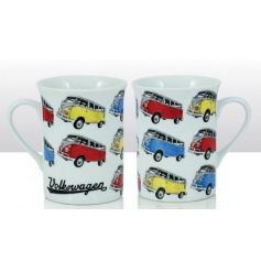 A stylish VW Camper Van pop art mug. A great gift item!