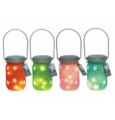 These sweetly assorted coloured mason jars will be sure to bring a colourful glow to all spaces