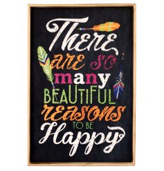 Reasons To Be Happy Wall Sign