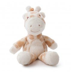 Filled with a huggable material and rattle beads, Gigi the giraffe will make the perfect compainion