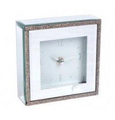 A glitzy mirrored clock