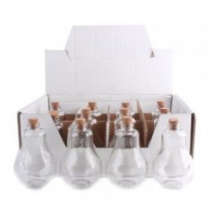 Keep all your kitchen spices in a neat formation with these quirky glass bulb shaped bottles.
